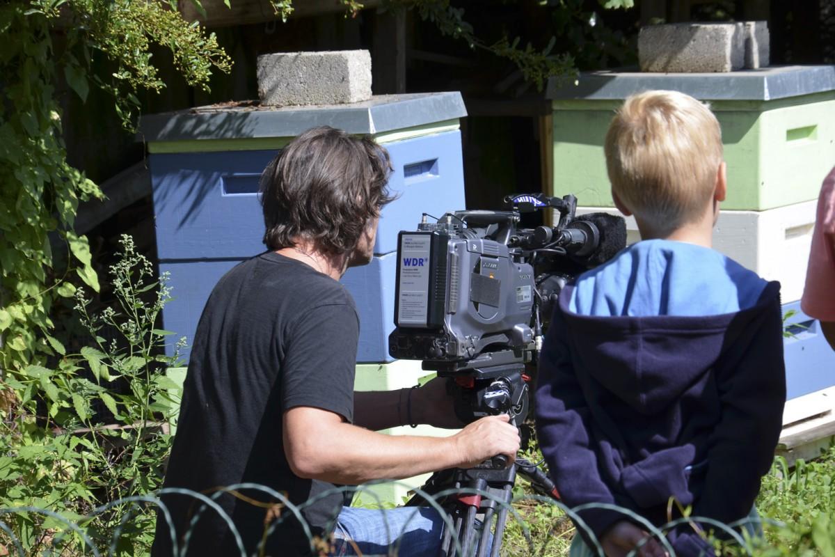 WDR Lokalredaktion besucht unseren Garten für Kinder