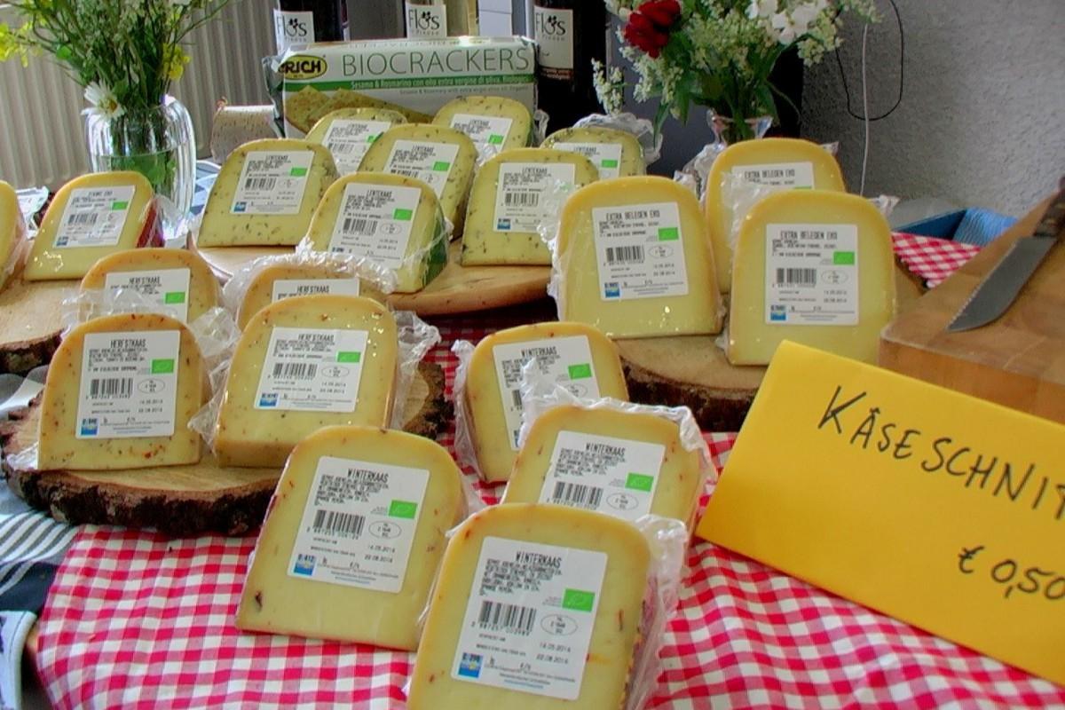 Und von allen Käsesorten konnte man natürlich probieren...
